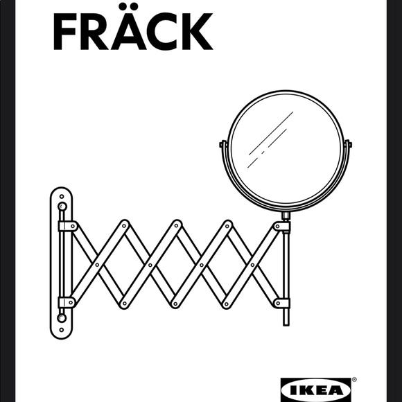 IKEA Stainless Steel Wall Mount Frack Mirror